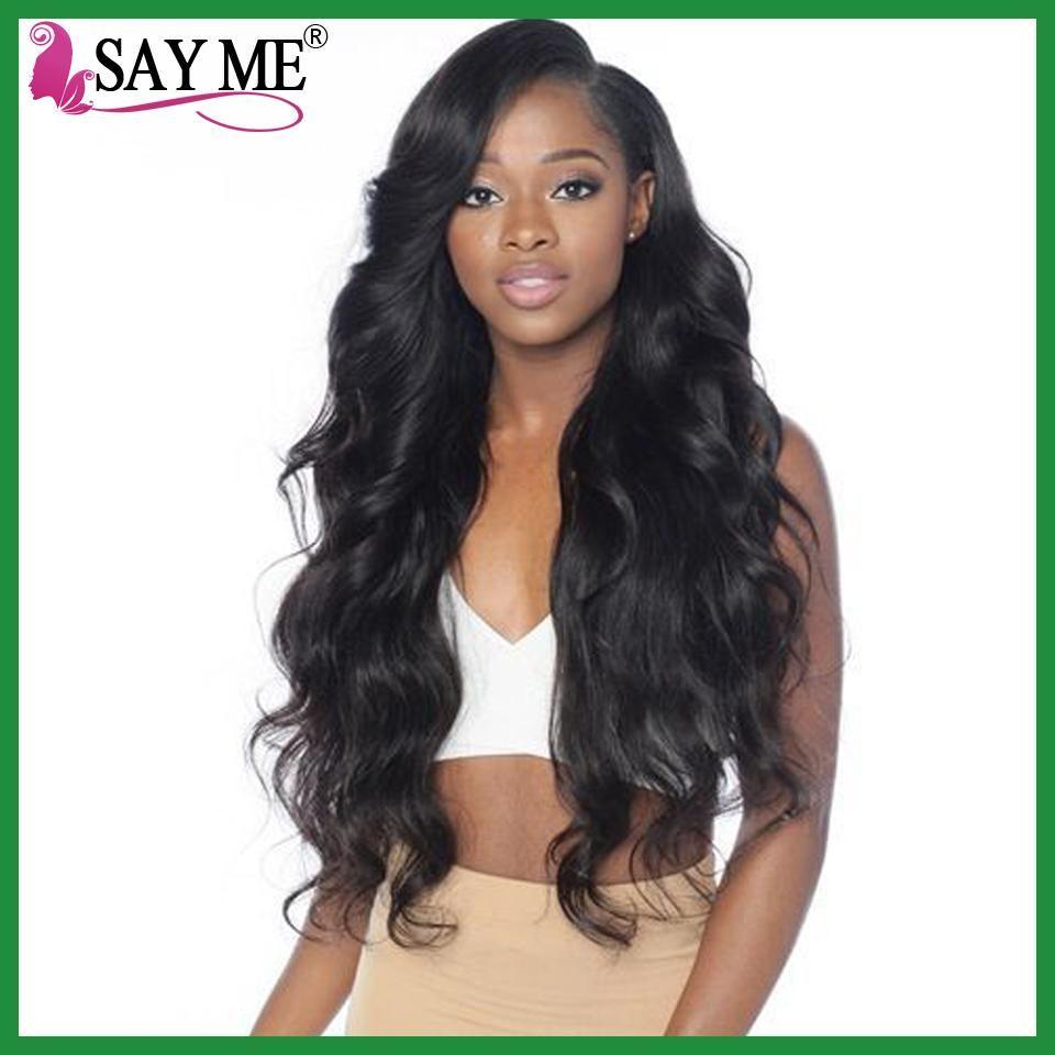 Brazilian Body Wave Human Hair Weave Bundles Non Remy Can Buy 3 4
