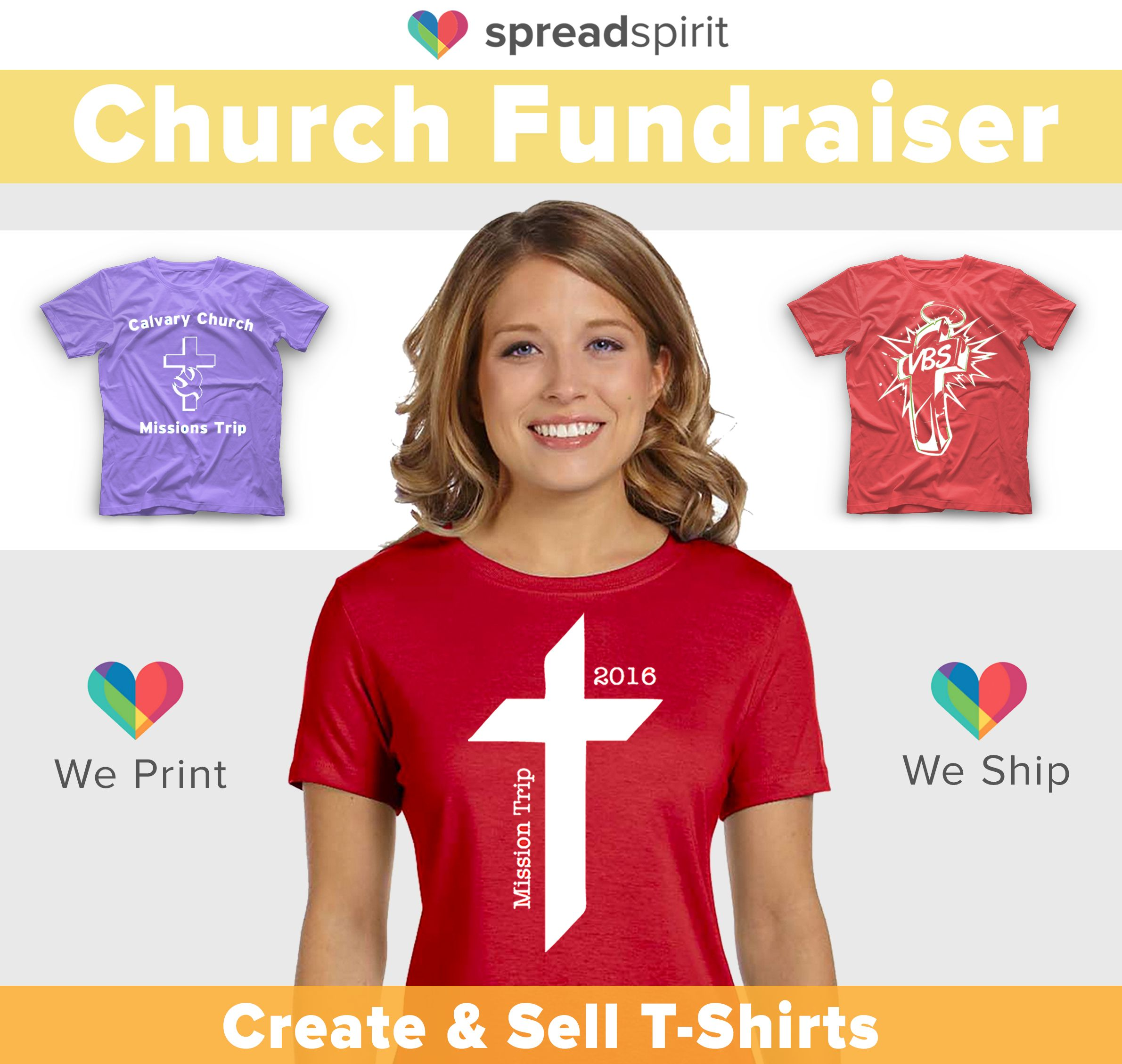 Church fundraising with t shirts raise funds for your for Create and sell t shirts online