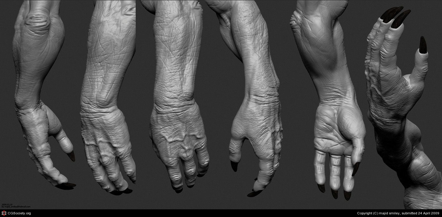 By Majid Esmaeili Monster Hands Anatomy For Artists Zbrush