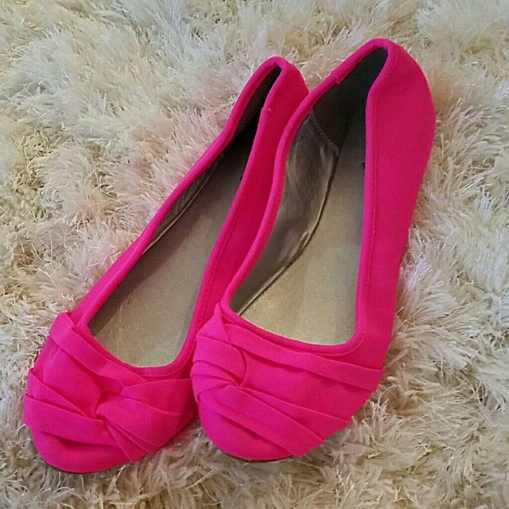 Pink Neon Flats