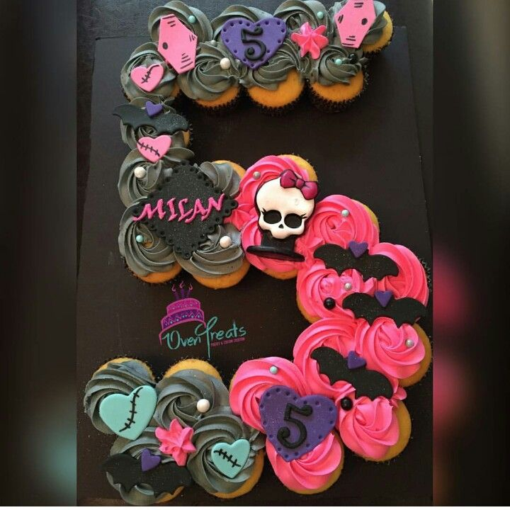 Awe Inspiring Monster High Cupcakes With Images Monster High Birthday Funny Birthday Cards Online Fluifree Goldxyz