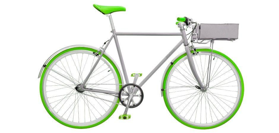 Mens Bike - Green/Med. Basket by Porteur