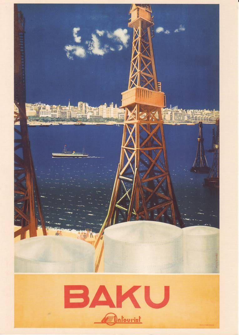 Welcome To The Ussr Soviet Travel Postcard Baku Propaganda Etsy Travel Posters Vintage Travel Posters Vintage Posters