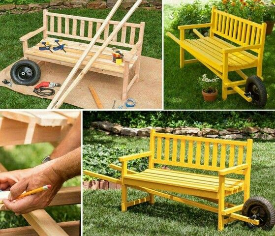 Is It A Picnic Table? Is It A Bench? Itu0027s Both   A Clever Fold Up Bench  That Converts Into A Handy Picnic Setting. Be Sure To View The Wheelbarrow  Bench And ...