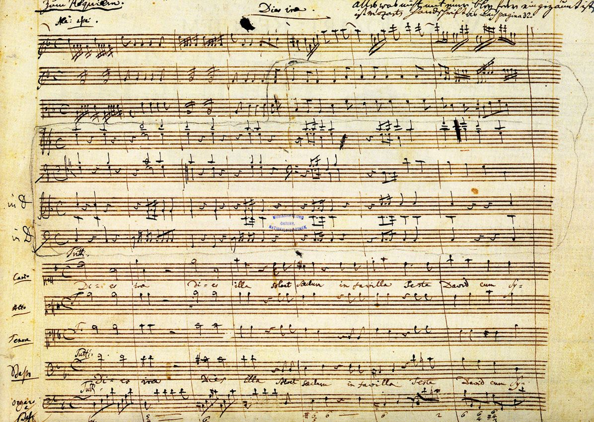 Manuscript ~ Mozart's Requiem Is A Work Perhaps Inevitably Burdened With  Our Expectations Of It: