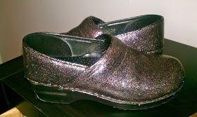 Diy glitter shoes, Clogs
