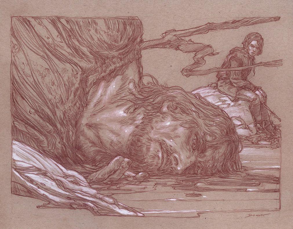 Ayra and The Hound by DonatoArts