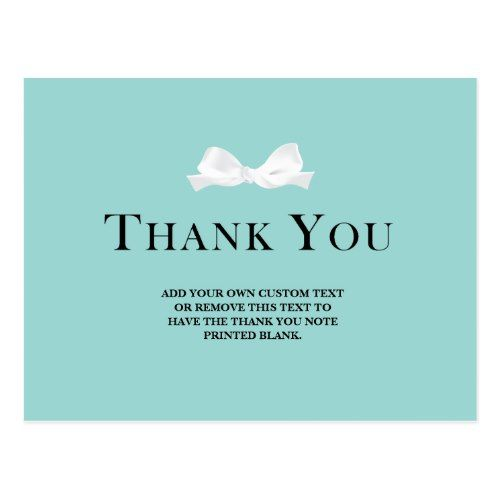 Tiffany S Inspired Bridal Shower Thank You Cards