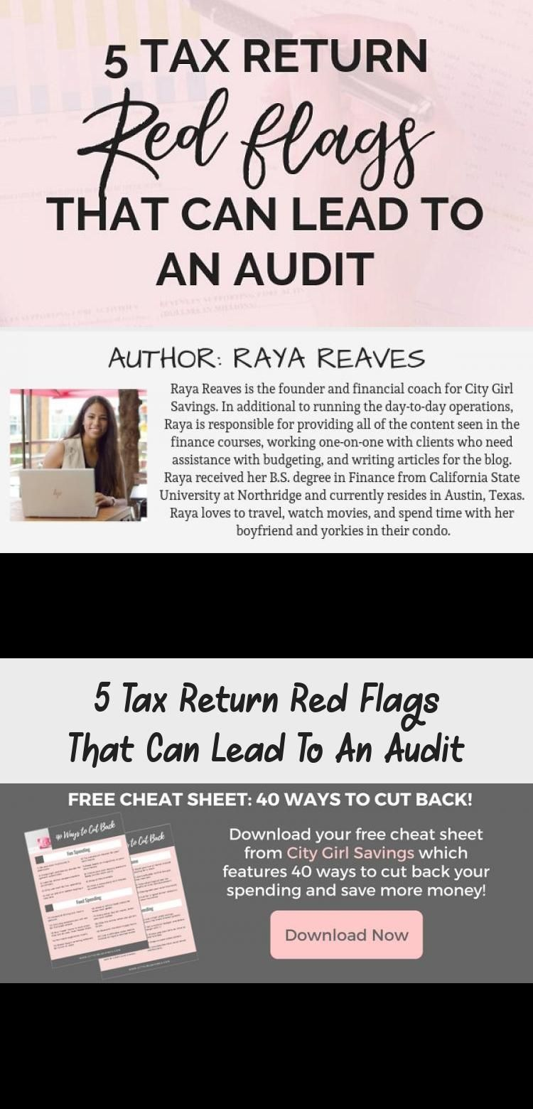 5 Tax Return Red Flags That Can Lead To An Audit in 2020