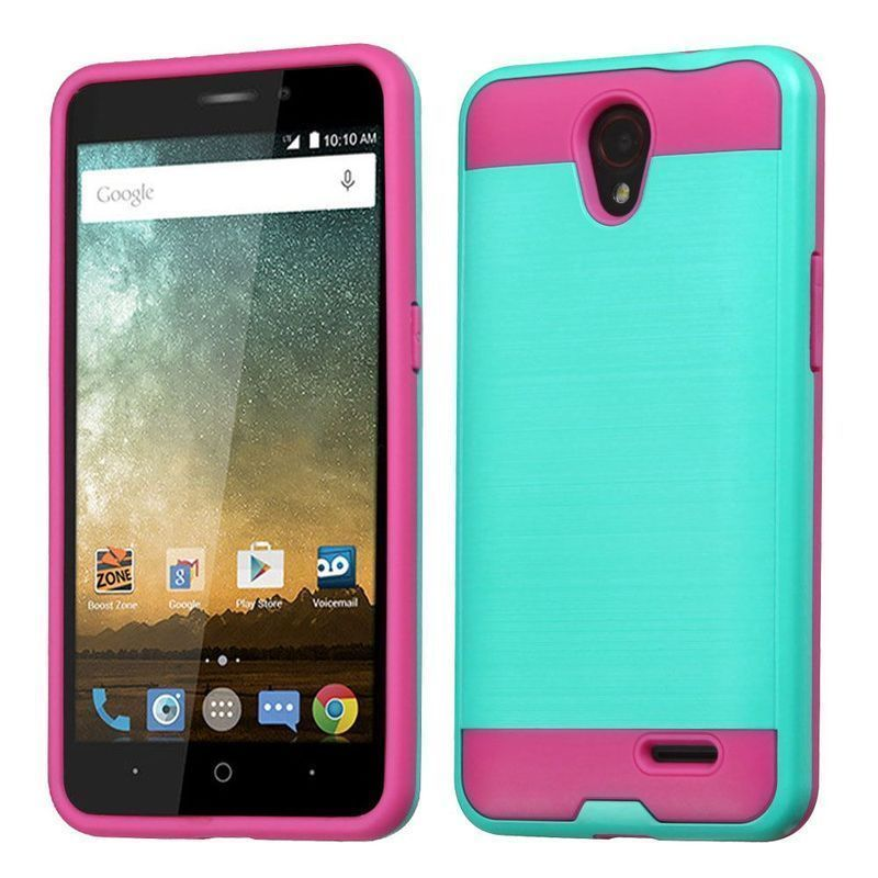 Insten Hard Snap-on Dual Layer Hybrid Case Cover For ZTE Avid Plus/ Cheers/ Maven 2/ Prestige/ Sonata 3