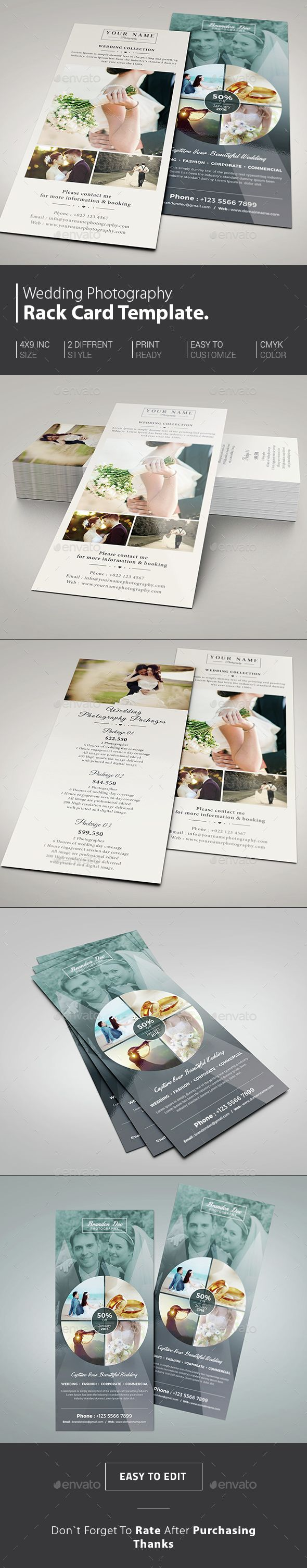 wedding photography rack card template psd download here httpgraphicrivernetitemwedding photography rack card 14836109refksioks - Standard Rack Card Size