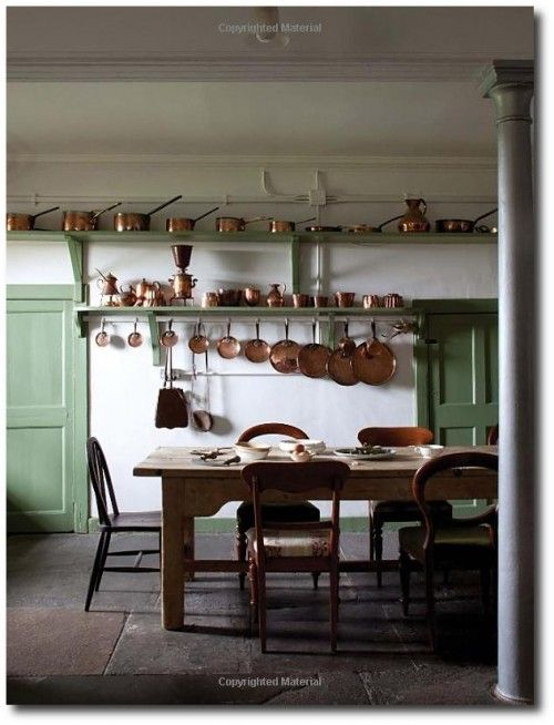 A country house kitchen from the book the scottish country house james knox color