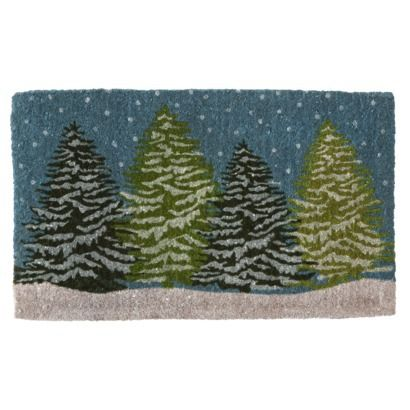 Smith Amp Hawken Natural Coir Fiber Door Mat Pine Trees