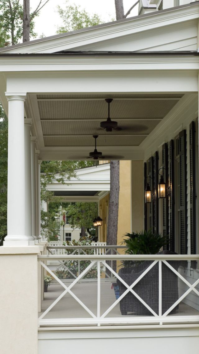 Southern Front Porch - Ceiling & Railings
