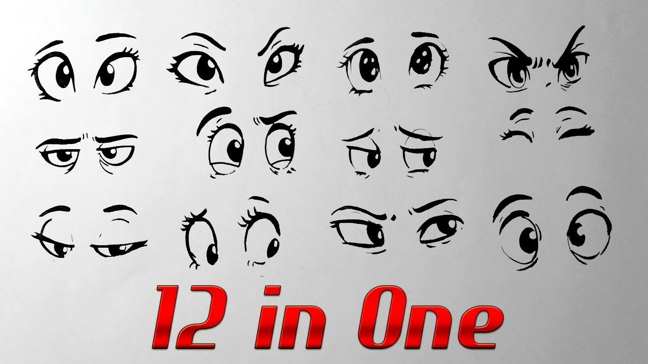 How To Draw Cartoon Eyes With Expressions Youtube Cartoon Eyes Cartoon Eyes Drawing Eye Drawing