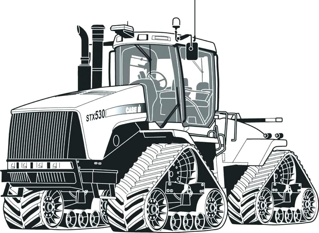 Tractor Printable Coloring Pages John Page Free Deere Tractors Games For Kids Dessin Voiture Tracteur Dessin