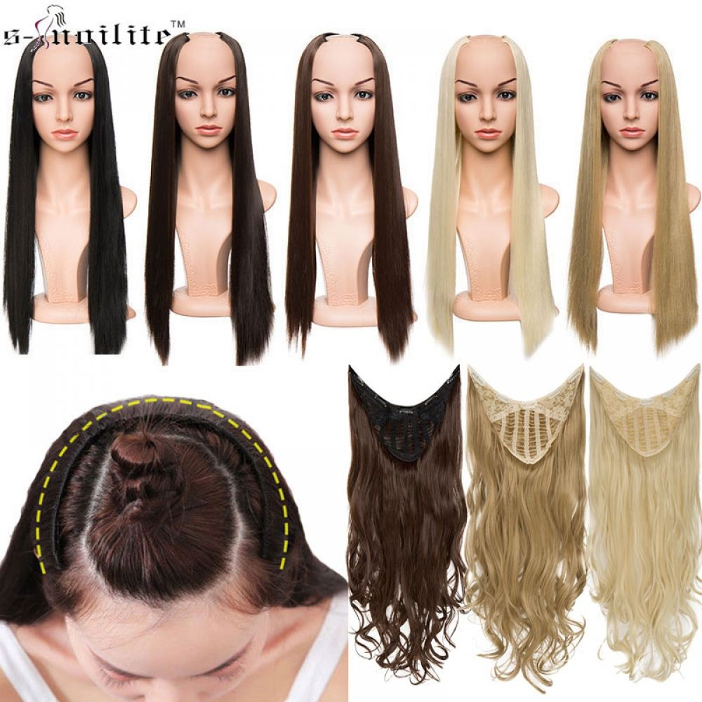one piece u clip in extensions human hair