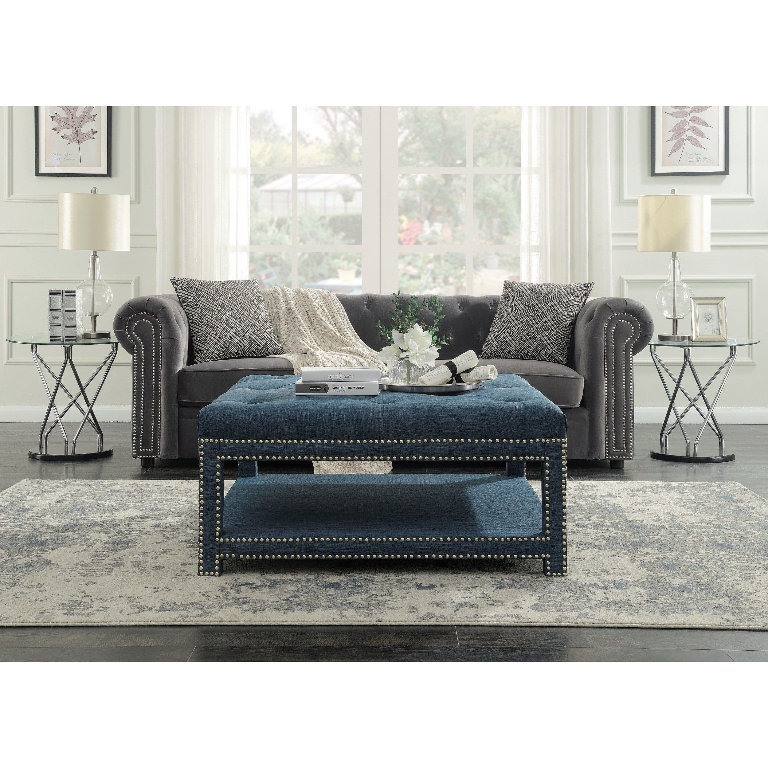 Chic Home Micah Coffee Table Ottoman in