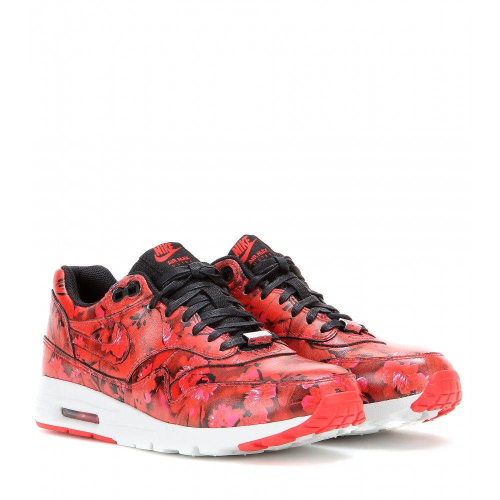 best authentic 759ea 905c9 nike air max 1 ultra floral print leather sneakers