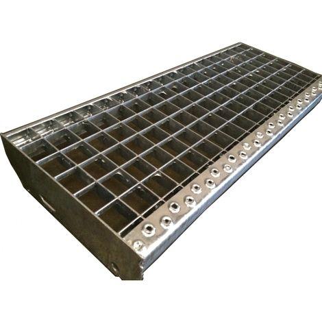 Marche escalier acier galvanisé maille de 30 mm x 30 mm Largeur disponible de 0,6 mètre à 1 mètre Sens porteur disponible en 0,24 et 0,27 mètre * Pour toute commande avant 11h ( jours ouvrés - CAI154106 - Jardin piscine
