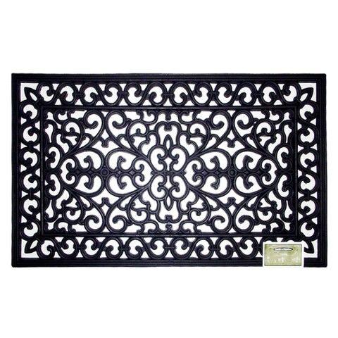 Decorative Black Rubber Door Mat   Smith U0026 Hawken™