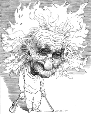 Albert Einstein Caricature Caricature Drawing Albert Einstein