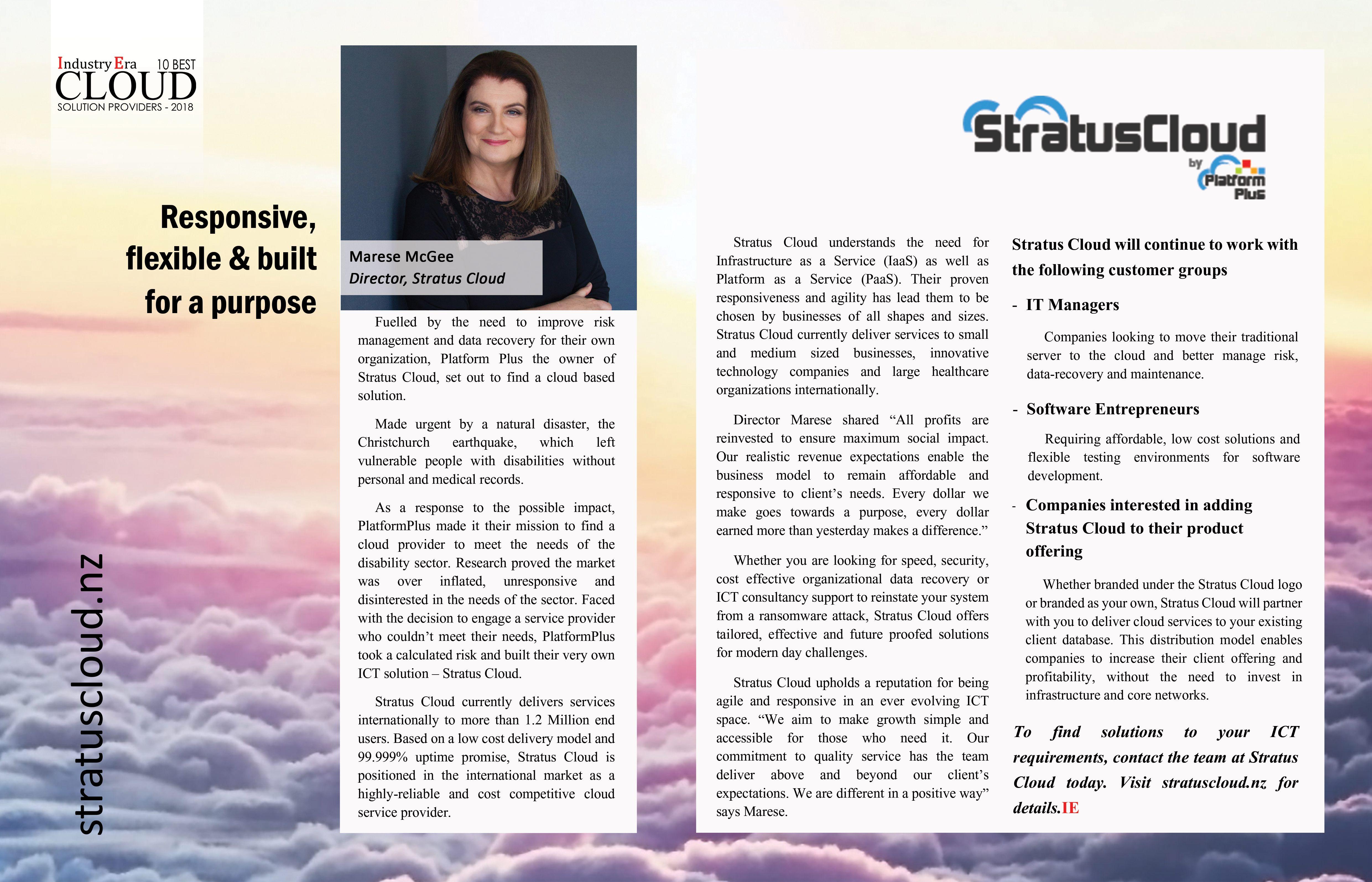 Startus Cloud - Responsive, flexible & built for a purpose in 2019