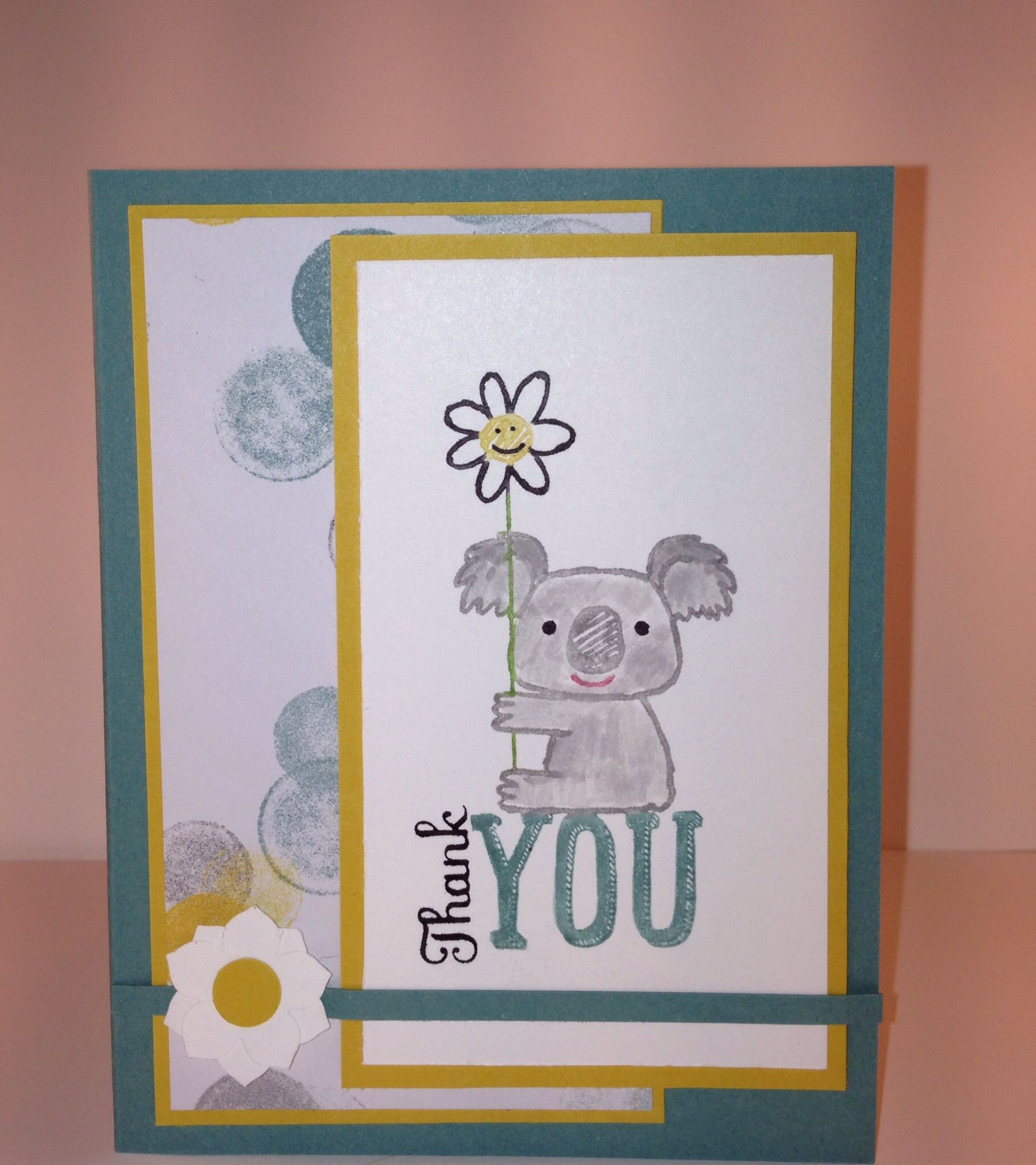Stampin up Kind Koala thank you card