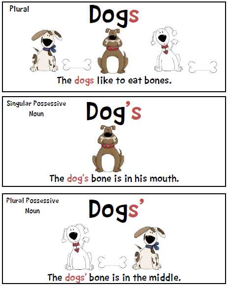 Possessive Nouns on Pinterest | Irregular Plural Nouns, Proper Nouns ...
