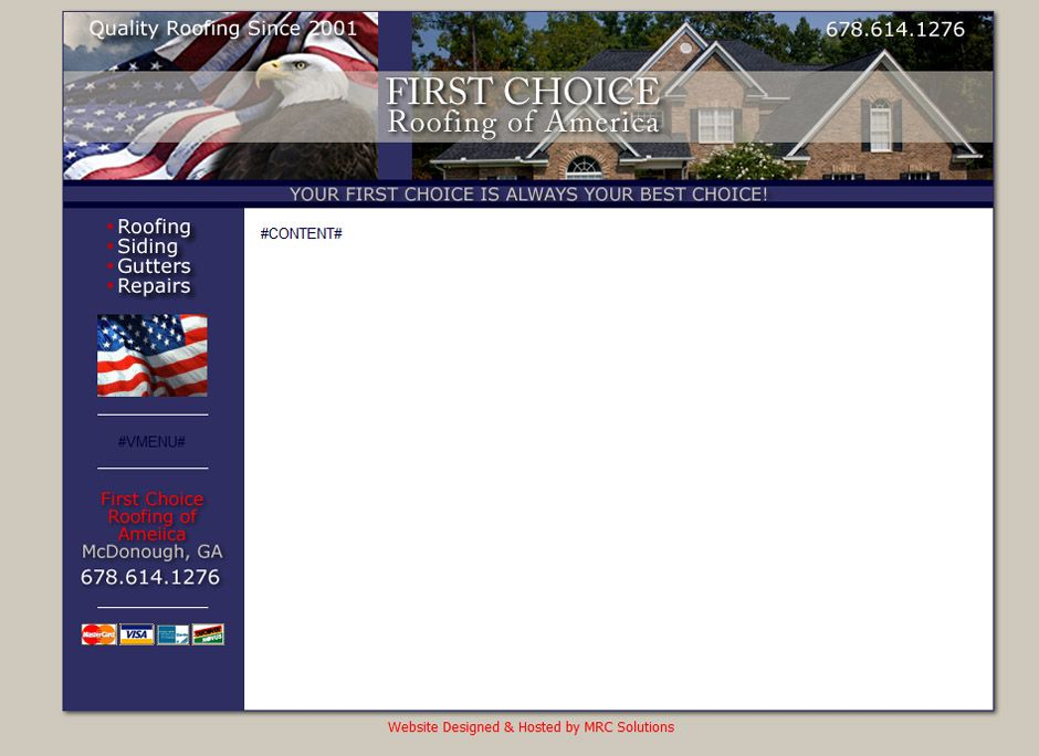 First Choice Roofing of America First choice, America