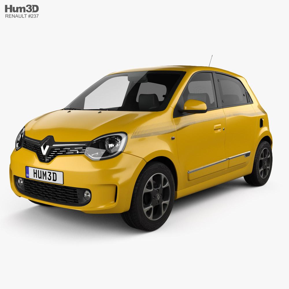 3d Model Of Renault Twingo 2021 Car 3d Model 3d Model Renault