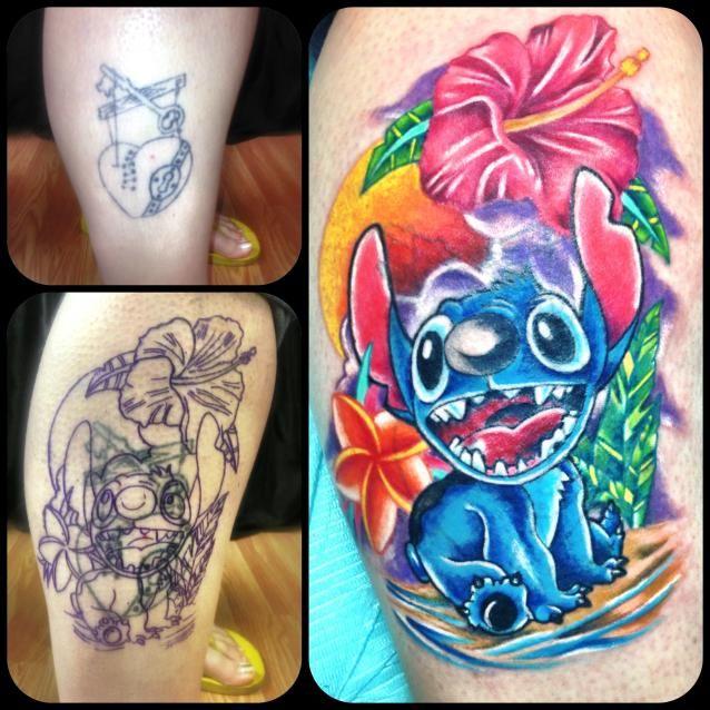 Disney Stitch Cover Up Awesome Disney Stitch Tattoo Stitch Tattoo Disney Tattoos