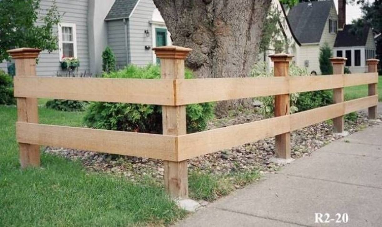 30 Attractive Wood Fence Designs Ideas For Frontyard And Backyard