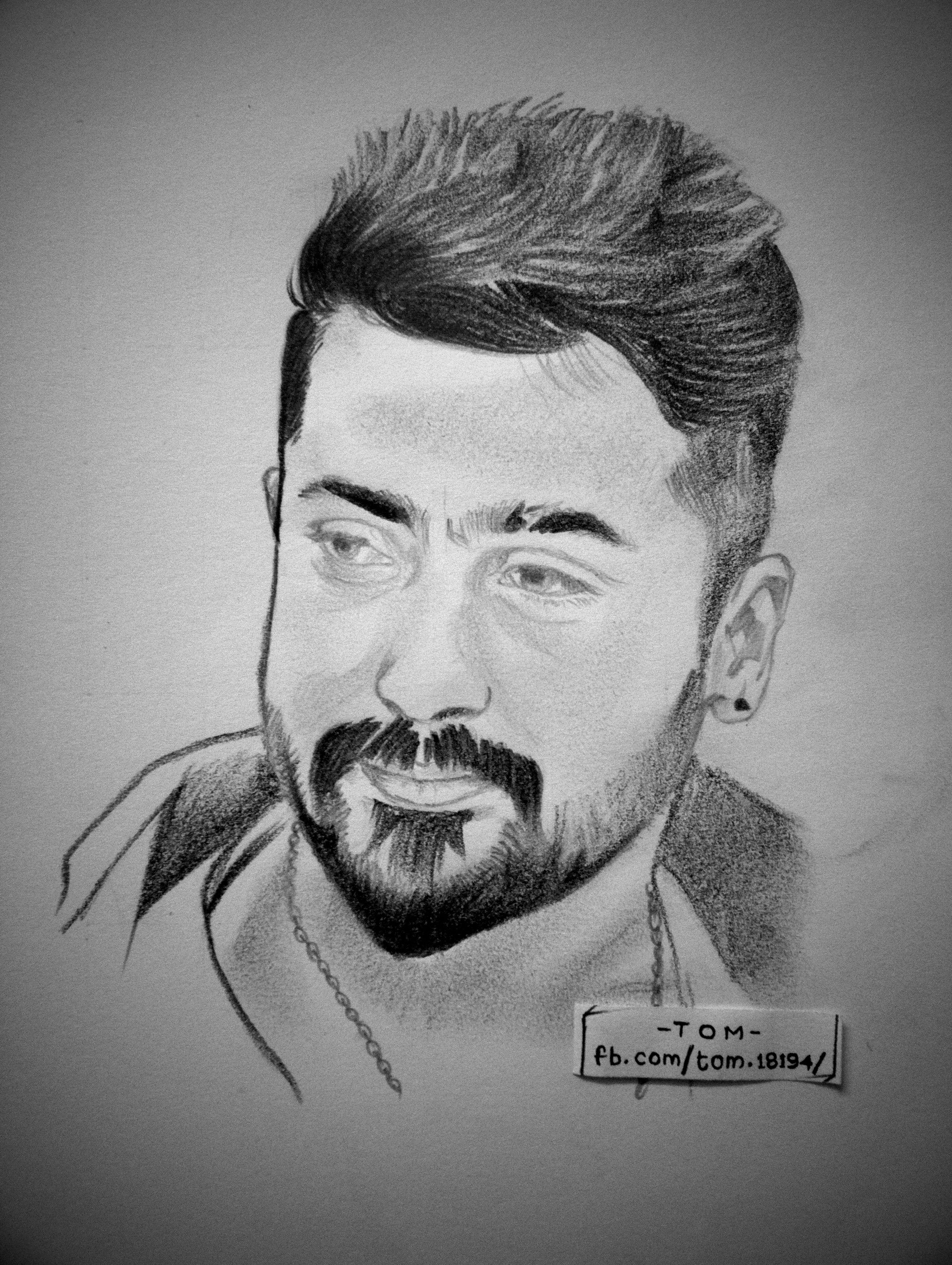 Suriya sivakumar vijay actor ganesha art drawing sketches pencil drawings sketching