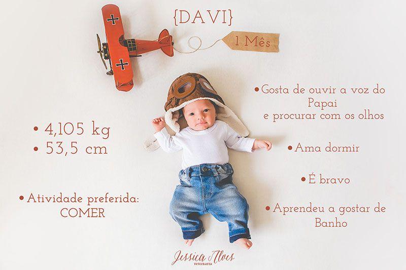 Davi Acompanhamento Mensal 1 Mês ô Jessica Alves Fotógrafa