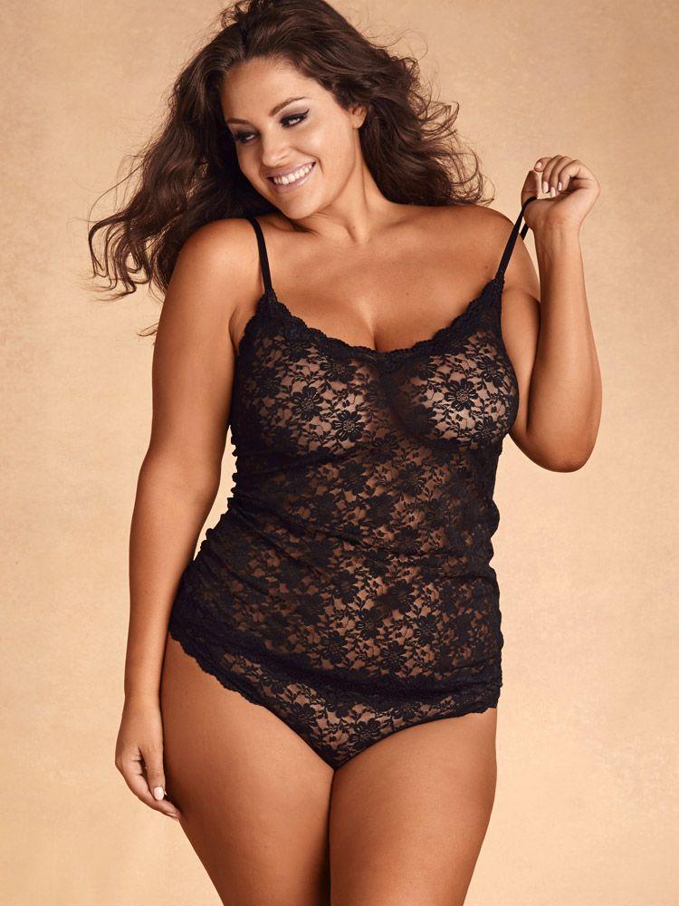 Plus Size All Lace Camisole, Black
