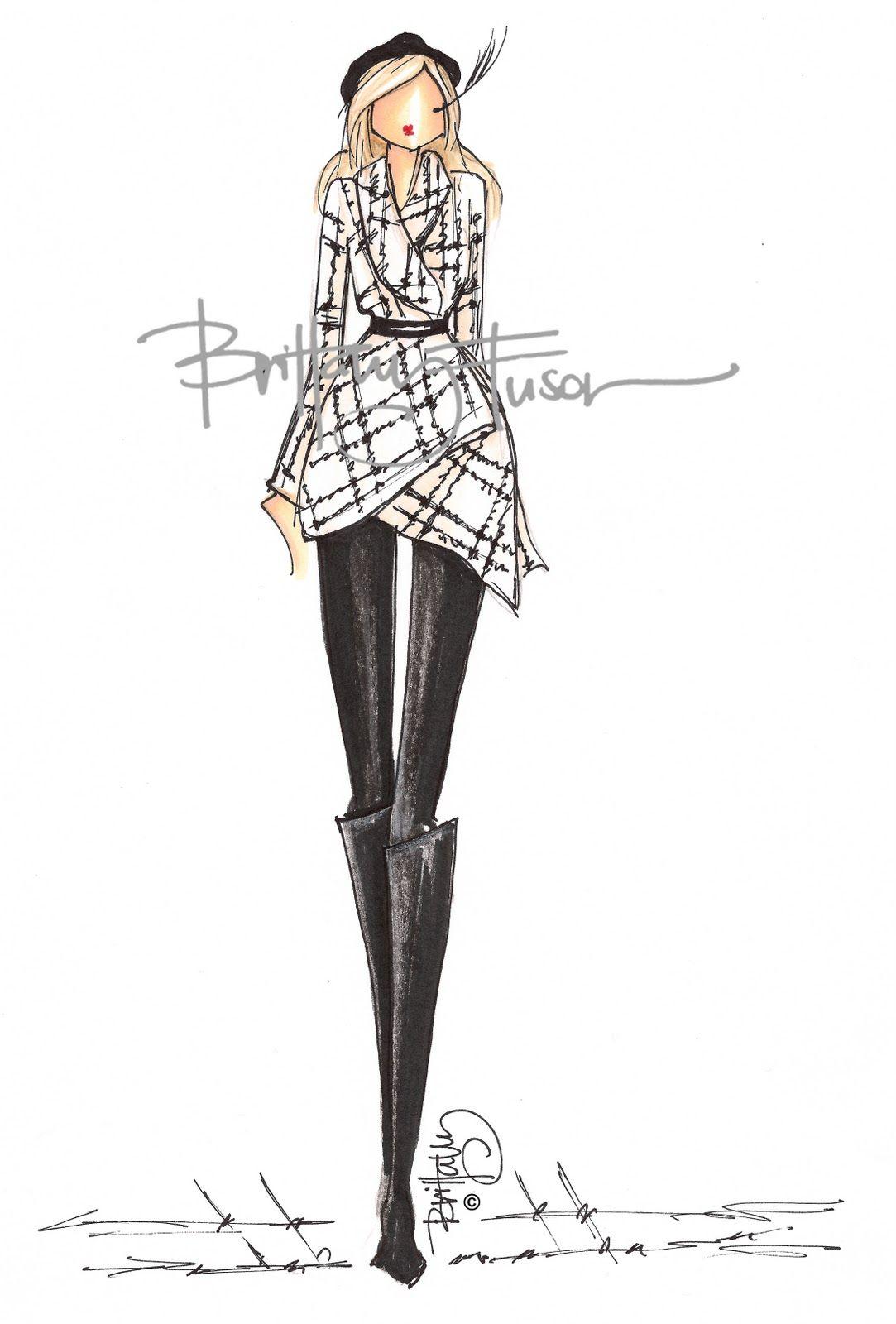 Brittany Fuson Black White Fashion Illustration Dresses Fashion Design Sketches Fashion Sketches