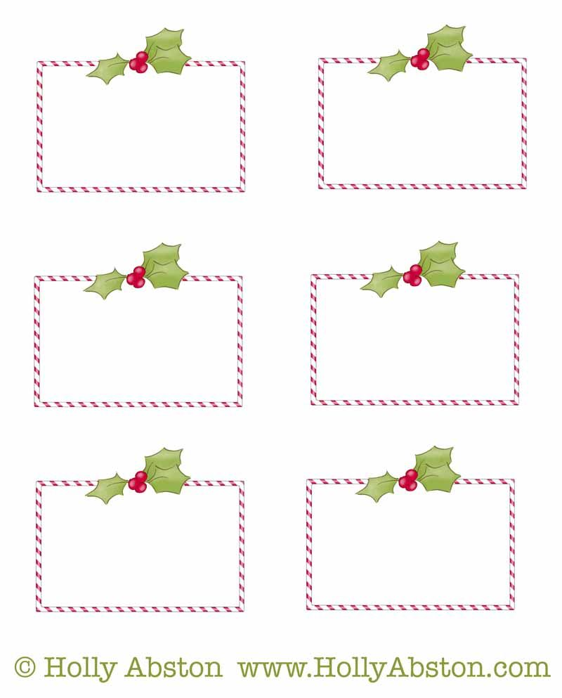 Freebie printable christmas holiday tags for scrap booking gift giving name tagging etc for Name tags christmas