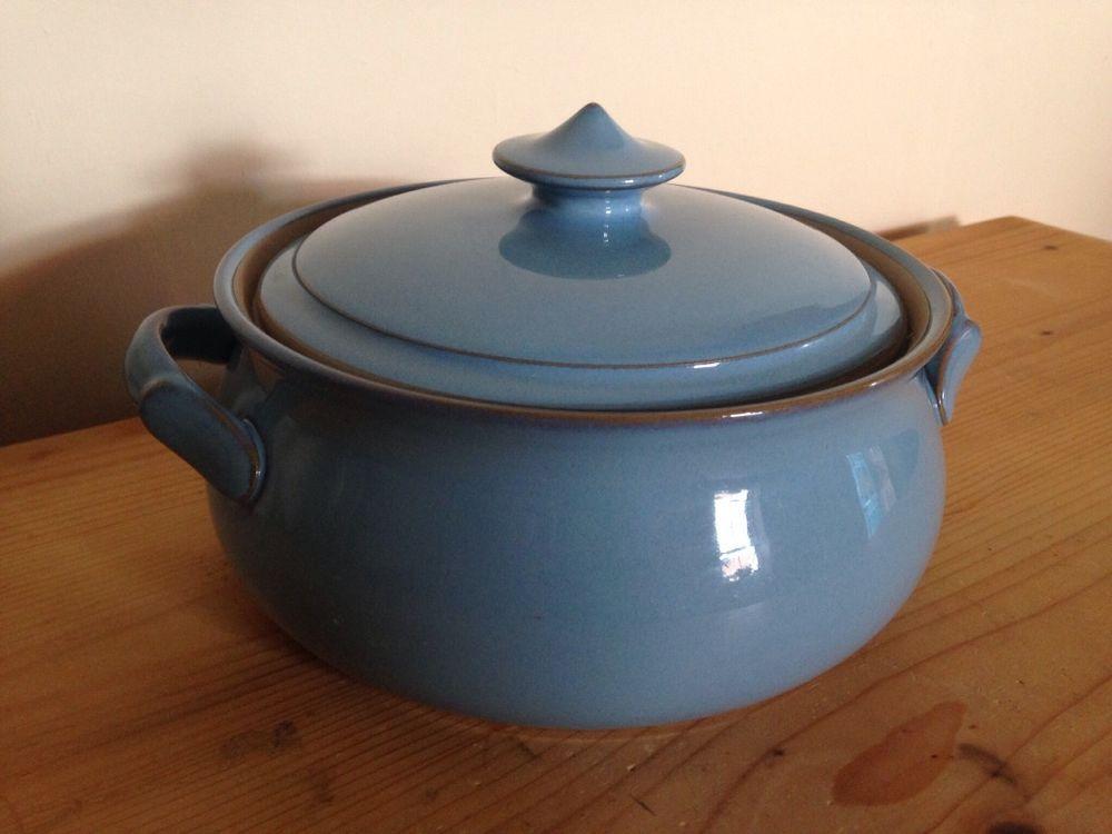 Denby Colonial Blue Cookware - Lidded Casserole / Covered Veg Dish ...