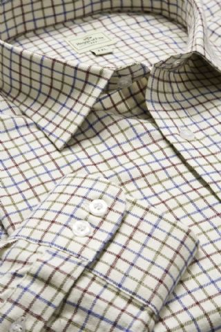 Hoggs Of Fife Pure Cotton Tattersal Check Shirt