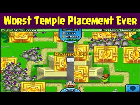 Bloons TD Battles | Worst Temple Placement Ever In BTD Battles