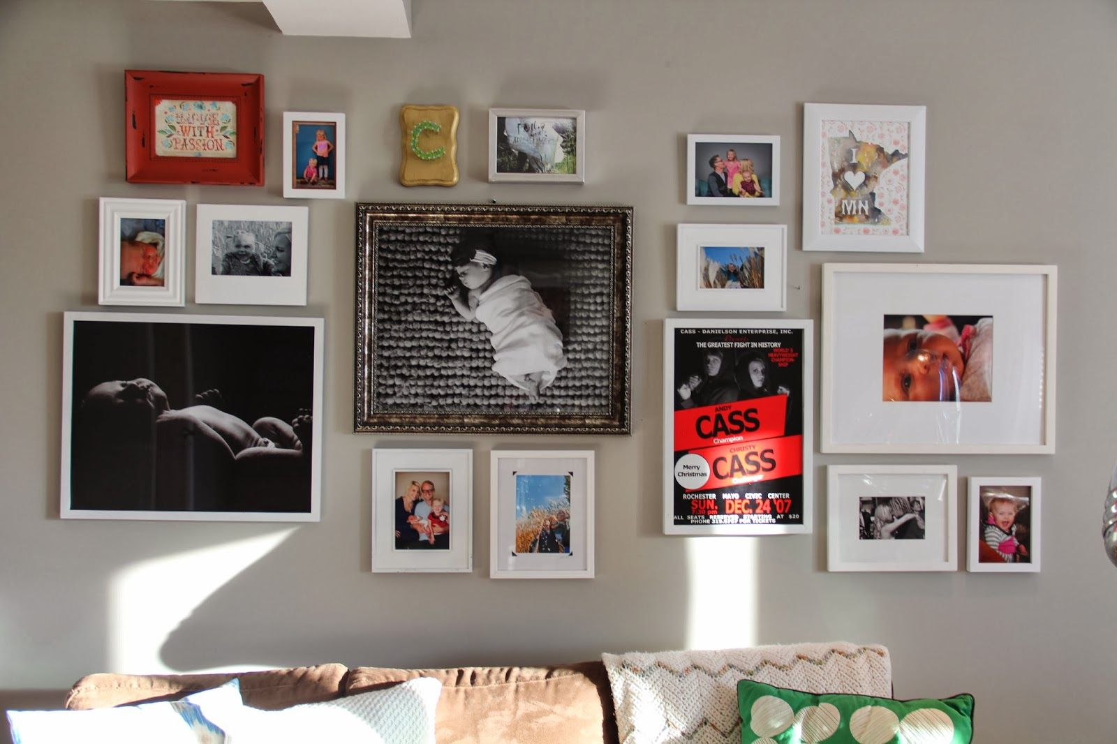 Gallery Wall display for family room!