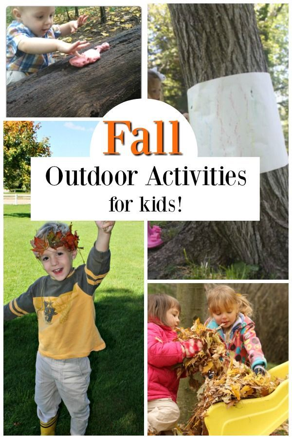 Outdoor Fall Activities for Preschoolers (With images ...