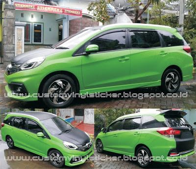 Honda Mobilio Rs White Full Body Wrapp Black Mat Cutting Arts