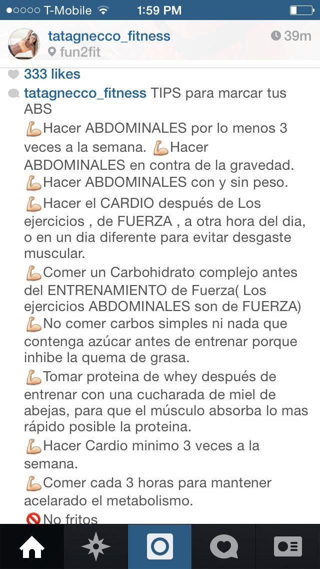 Tips para marcar abdomen
