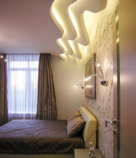 False Ceiling Design For Bedroom With Creative Lighting
