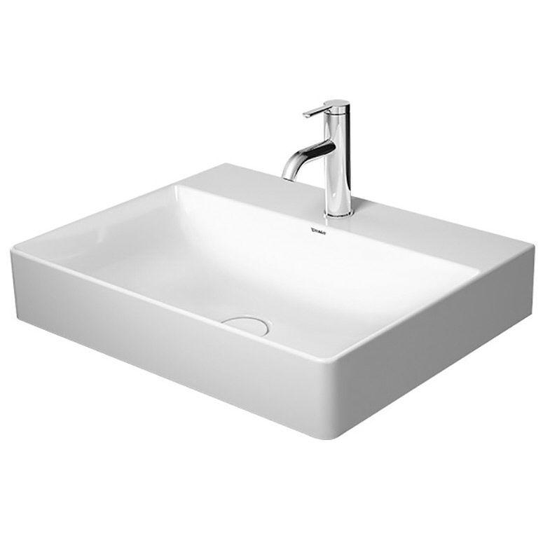 Duravit Durasquare Waschtisch Geschliffen Mit Hahnloch 60 X 47 Cm 2353600071 Megabad Waschtisch Duravit Badezimmer Waschbecken