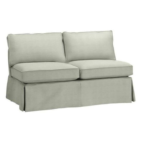 Pottery Barn Pb Basic Armless Loveseat Slipcover 704
