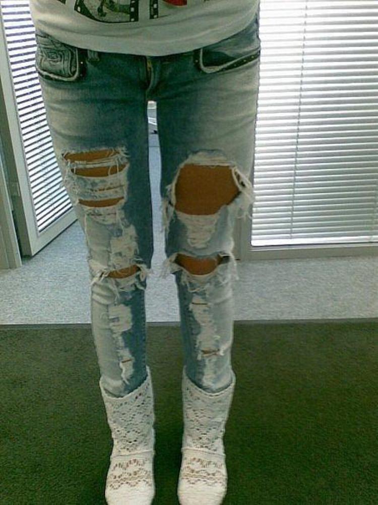 Хочуууу рваные джинсы! может кто где видел? / Форум / U-MAMA.RU