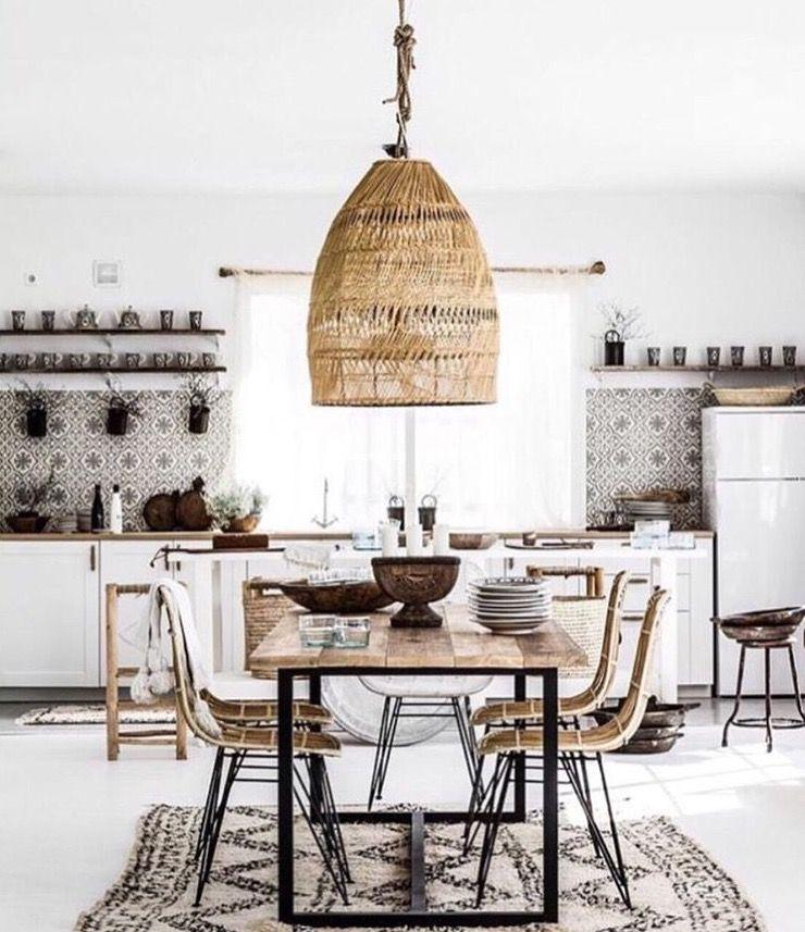 white kitchen tiles wood boho kitcheninteriordesignbohemian with images bohemian kitchen on boho chic kitchen table id=80819